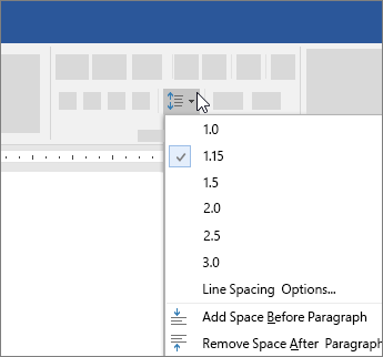 Image result for How to double space or change line spacing in Microsoft Word